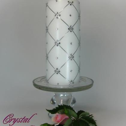 Wedding Unity Candles with Swarovsk..