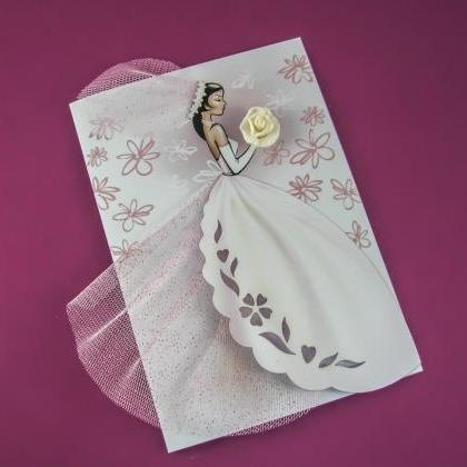 Handmade Bridal Wedding Invitations..