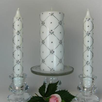 Wedding Unity Candles with 300 Swar..