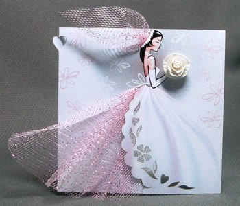 Handmade Bridal Wedding Invitations Bride Invite Your Bridesmaids Gown Invitation Dress Shower