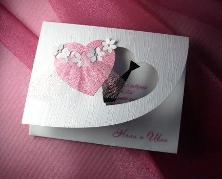 bridal wedding invitations two hearts handmade wedding