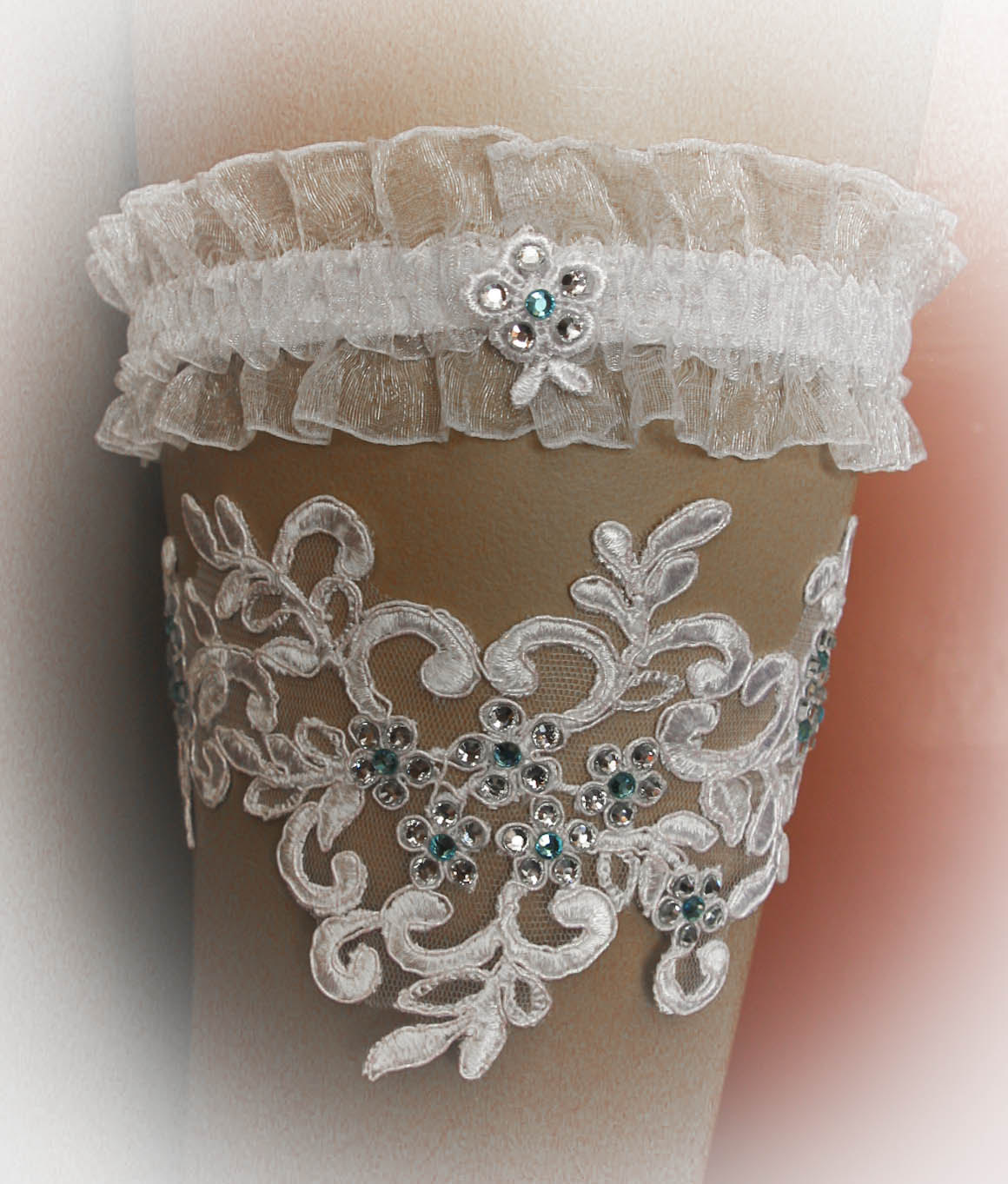 Lace Wedding Garter Set with Swarovski Crystals, Bridal Garter Set, Vintage Garter, Stretch Garter, Crystal Garter, Prom Garter