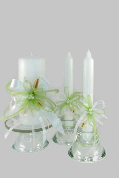 Handmade Wedding Unity Candles with Callas, Pillar Candle, Taper Candles, Personalized Candles, Unity Candle Set, White Calla Lilies